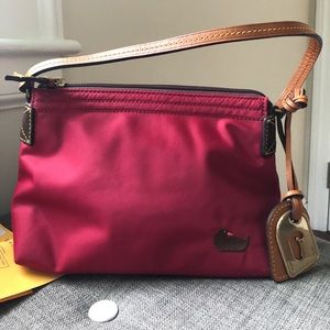 Dooney & Bourke Red Pouchette Satchel Bag